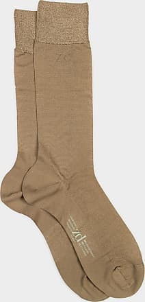 ZD Zero Defects Zero Defects beige mercerized cotton socks
