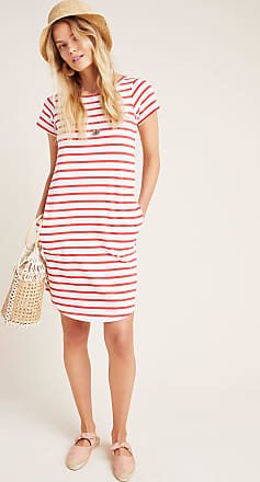 Maeve Rochelle Striped T-Shirt Dress