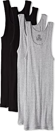 Hanes Ultimate Mens 4-Pack A-Shirt - Multi - Medium Black/Grey