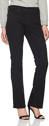 NYDJ Womens Billie Boot Cut Bootcut Jeans, Black, 16W / 33L