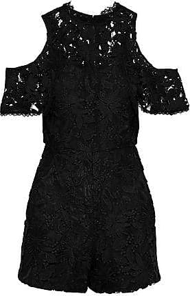 721592a9f9 Alice   Olivia Alice + Olivia Woman June Cold-shoulder Guipure Lace  Playsuit Black Size