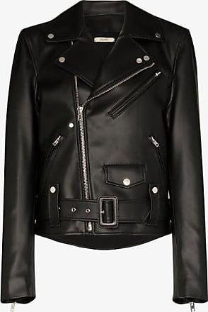 Zilver Womens Black Faux Leather Biker Jacket