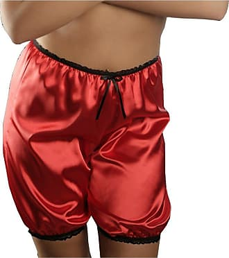 Nine X French Satin Shorts S M L XL 2XL 3XL Knickers - Bloomers Many Colours Red M