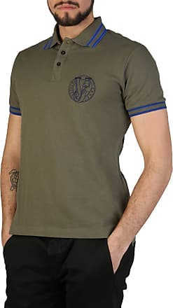 Versace Jeans Couture Mens Short Sleeve t-Shirt Polo Collar Green UK Size 48 (UK 38) B3GSB7P1