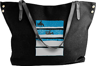 Juju Winter Snow Womens Classic Shoulder Portable Big Tote Handbag Work Canvas Bags