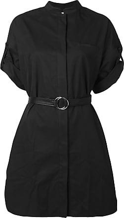 Yves Salomon belted shirt dress - Black