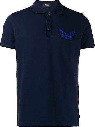Fendi Camisa polo Diabolic eyes - Azul