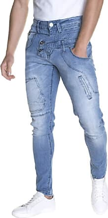 883 Police Moriarty ATL 361 Slim Stretched Mens Jeans (S38) Blue