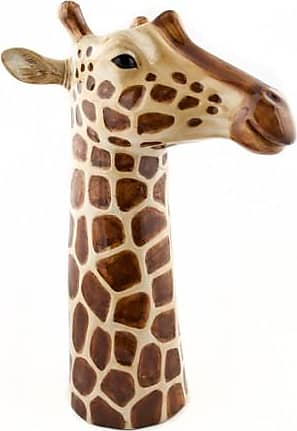Quail Ceramics Large Giraffe Vase - Brown