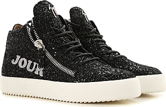 f16da07042471 Giuseppe Zanotti Sneakers for Women On Sale, Black, Glittered Leather,  2017, 10