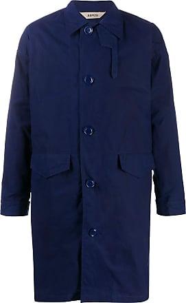 Aspesi Commander single-breasted coat - Azul
