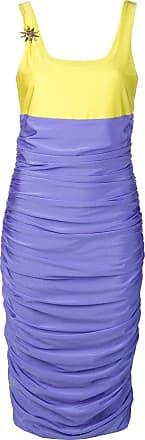 FAUSTO PUGLISI Vestido slim com franzido - Azul