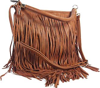 GFM Faux Leather Tassel Bag (F1618-TKEK-00) With Soft Fringes Tassels on Both Sides Shoulder bag Also available in Navy, Black, Light Grey, Brown, Purple,