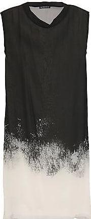 Ann Demeulemeester Ann Demeulemeester Woman Dégradé Silk-chiffon Tunic Black Size 36
