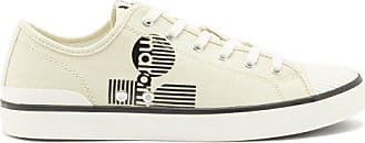 Isabel Marant Binkooh Logo-print Cotton-canvas Trainers - Mens - Ivory