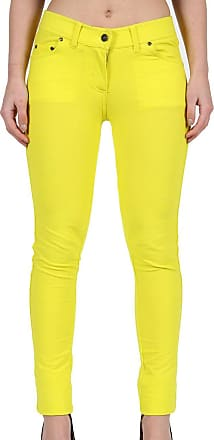 Parsa Fashions Ladies Skinny Fit Coloured Jeggings Womens Strechy Pants (UK 8-26) (22, Yellow)