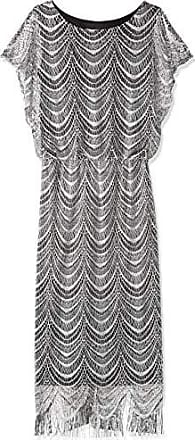 S.L. Fashions Womens Metallic Crochet Dress (Plus Size and Missy), Silver, 14