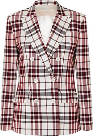 Antonio Berardi Checked Wool And Mohair-blend Blazer - Red