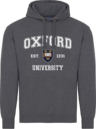 Oxford University Harvard Style Hoodie - Dark Heather - 2XL