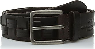 John Varvatos Mens 38Mm Woven Belt, Chocolate, 30