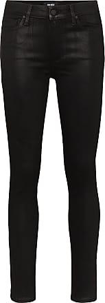 Paige Calça jeans skinny Hoxton com acabamento encerado - Preto