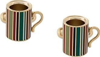 Paul Smith Gemelli a forma di tazza a righe - Color oro