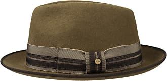 c7a8e8ae267cea Stetson Pulasco Player Wool Felt Hat Men   Fedora with Grosgrain Band,  Piping Autumn-