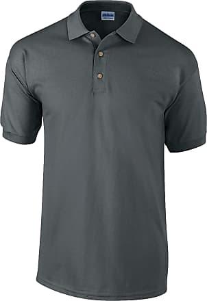 Gildan Mens Ultra Cotton Pique Polo Shirt Charcoal XL