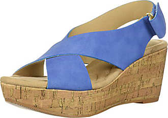 4c7b6ceb9ee2 Chinese Laundry Womens Dream Girl Wedge Sandal Denim Blue Nubuck 9 M US