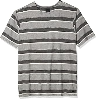 RVCA Mens Ventura Stripe Short Sleeve Crew Neck Shirt