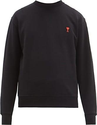 Ami Ami - Ami De Coeur-appliqué Cotton Sweatshirt - Mens - Black