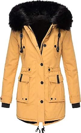 VITryst Womens Winter Coats Hooded Warm Faux Fur Lined Jacket Outwear Parka Anroak Long Coats,1,XX-Large