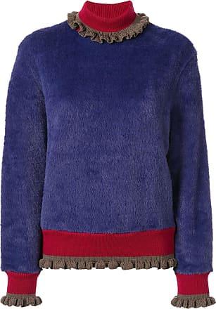 Kolor textured roll neck jumper - PURPLE