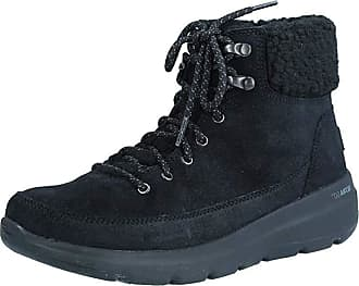 Skechers Womens Glacial Ultra-Woodlands Fashionable Boots, Navy Grey, 6 UK