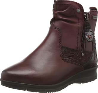 Jana Womens 8-8-26428-23 Ankle Boots, Red (Bordeaux 549), 7.5 UK