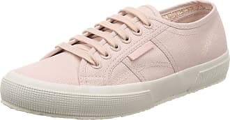Superga Womens 2750 Classic Low Top Fashion Flat Lace Up Casual Trainers - Pink Skin/White - 6