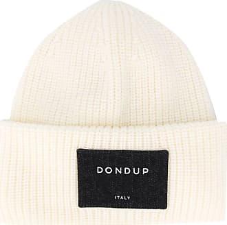 Dondup Gorro de lã com patch de logo - Branco