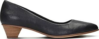 Clarks Womens Black Leather Clarks Mena Bloom Size 9.5