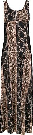 Amir Slama long silk dress - Brown