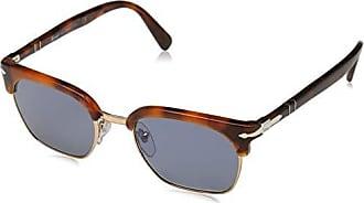 5f587db002 Persol 107256 Gafas de sol, Rectangulares, 49, Tortoise Brown