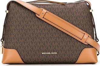 Michael Michael Kors logo print shoulder bag - Brown