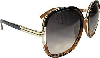 275ec5f01845 Jessica Simpson Womens J5443 Oxts Non-Polarized Iridium Round Sunglasses  Black Tortoise 68 mm