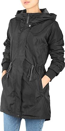 iLoveSIA Womens Lightweight Trench Coat Waterproof Jacket Black UK 12