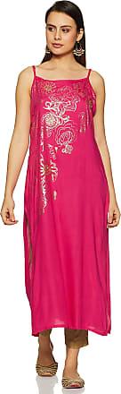 Indigo Womens Rayon a-line Kurta (AW19/IND-1284_ Fuchsia_ Xx-Large)