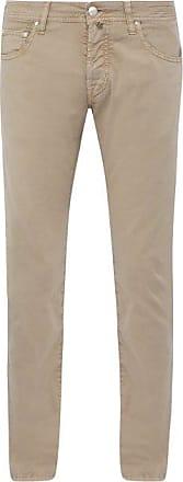 Jacob Cohen Mid-rise Slim-leg Trousers - Mens - Beige