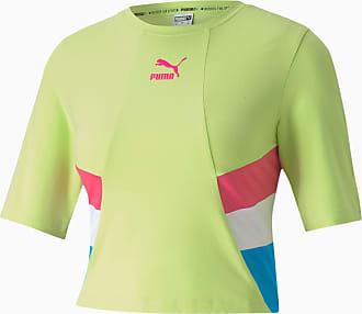Puma Tfs Retro Crop Womens Top Shirt, Sharp Green, size X Large, Clothing