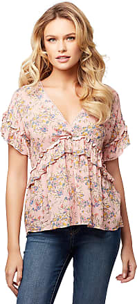 Jessica Simpson Womens Ashby Ruffled Blouse, Fairy Florals, X-Large
