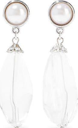 Ben-Amun Ben-amun Woman Silver-tone, Faux Pearl, Crystal And Bead Earrings Silver Size