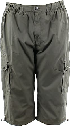 Espionage Mens Big Size Three Quarter Length Ripstop Cargo Shorts (047) Green