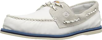 Sperry Top-Sider Sperry Authentic Original 2 Eye Nautical Slip On Shoes UK 8 White